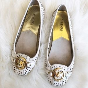 Michael Michael Kors Fulton leather white flats 7